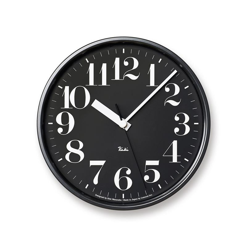 Lemnos Riki Steel Clock | Black