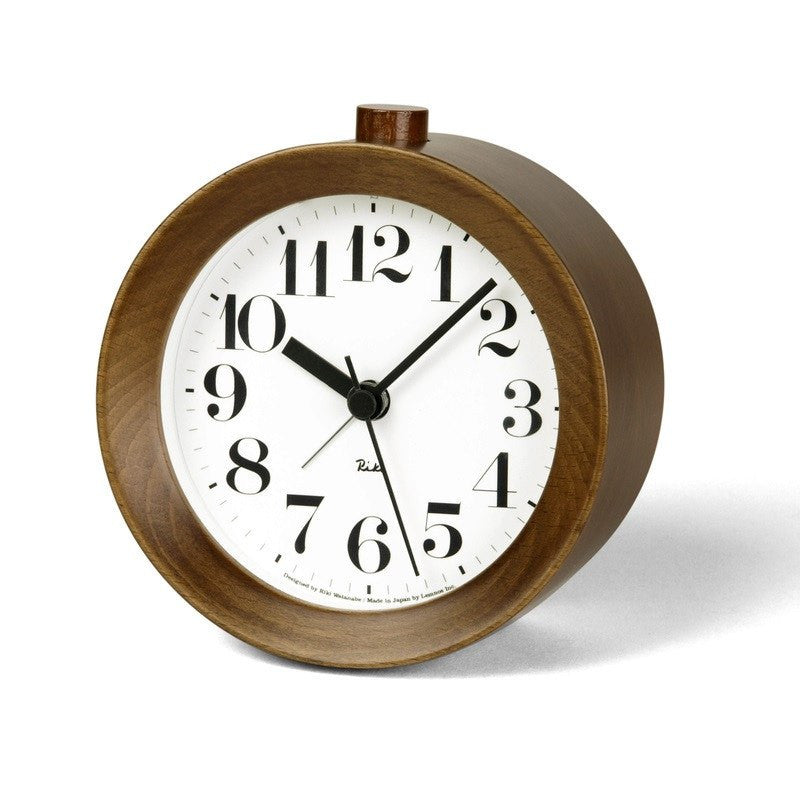 Lemnos Riki Alarm Clock | Brown