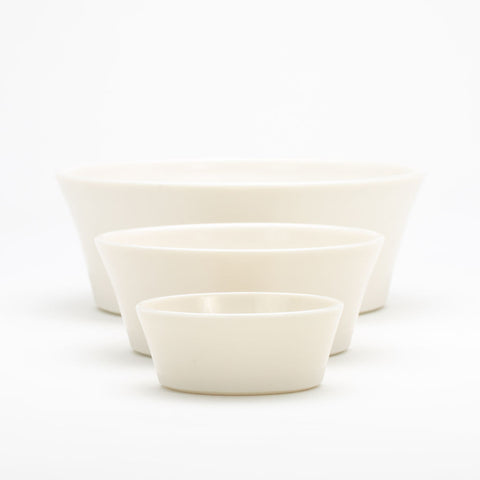WRF Lab Lumen Small Serving Bowl / Silver Accent