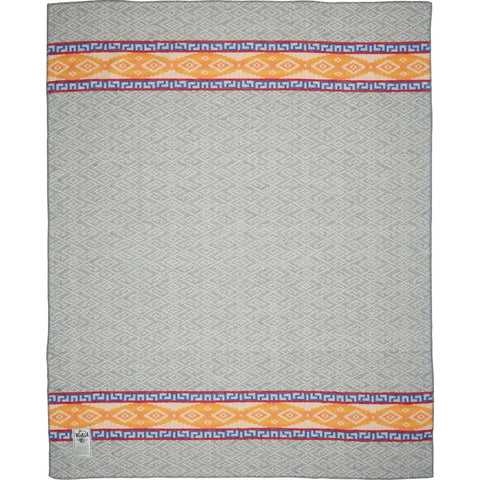 Woolrich Roaring Run Wool Throw Blanket | Light Gray S 92490 LGR