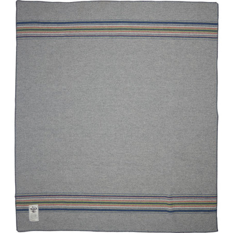 Woolrich Shady Cove Striped Wool Throw Blanket | Light Gray S 990214 LAS