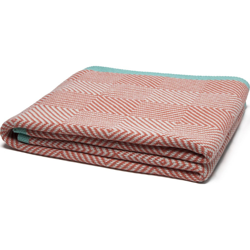 in2green Woven Square Eco Throw | Coral/Milk/Seafoam BL01WS8