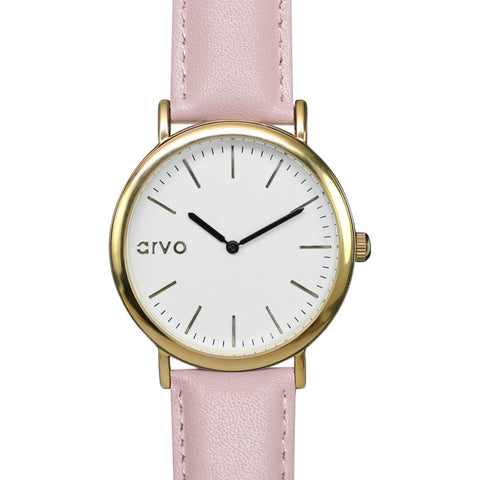 Arvo White Time Sawyer Women's Watch | Gold/Blush