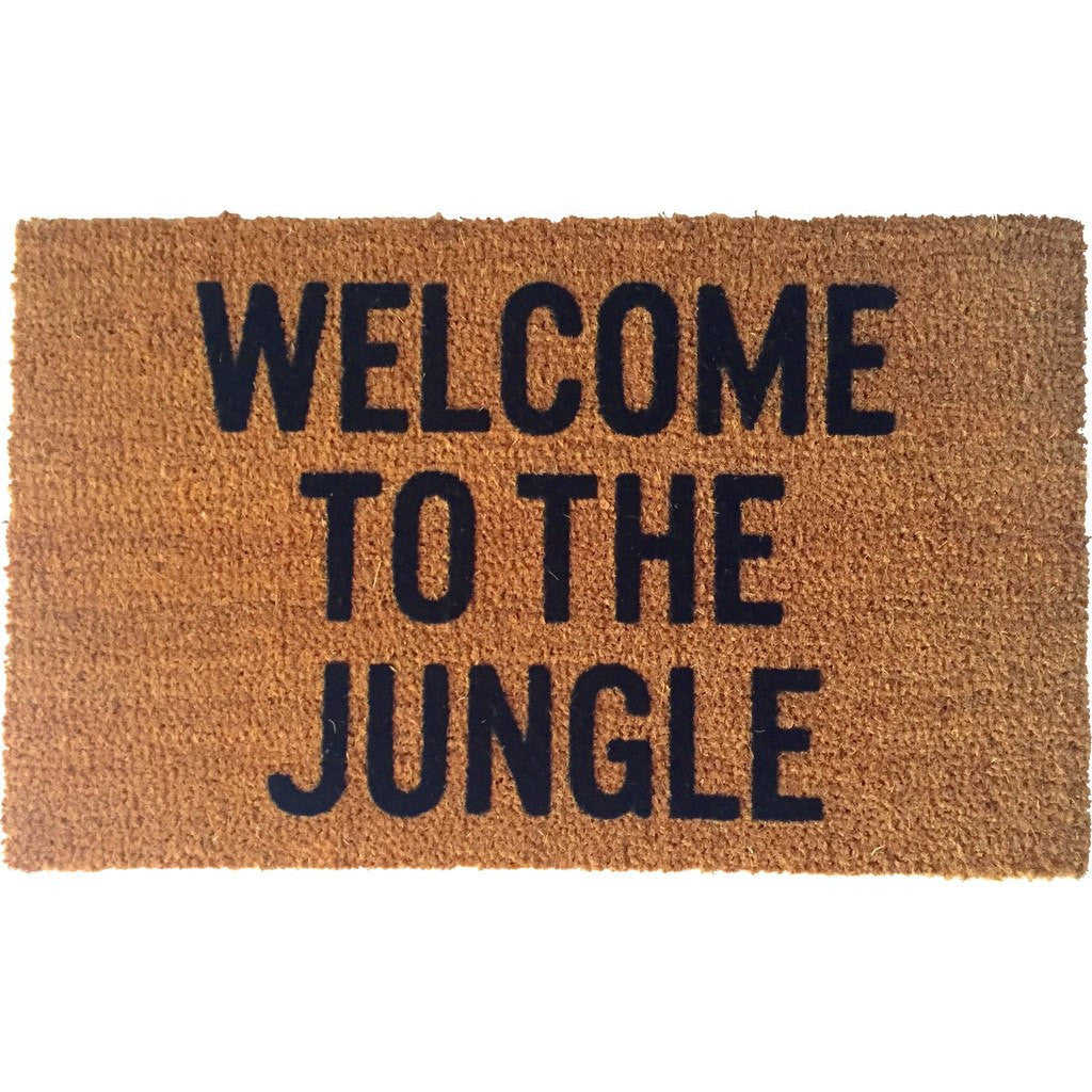 Reed Wilson Design Welcome to the Jungle Doormat | Flocked Lettering DRMT109