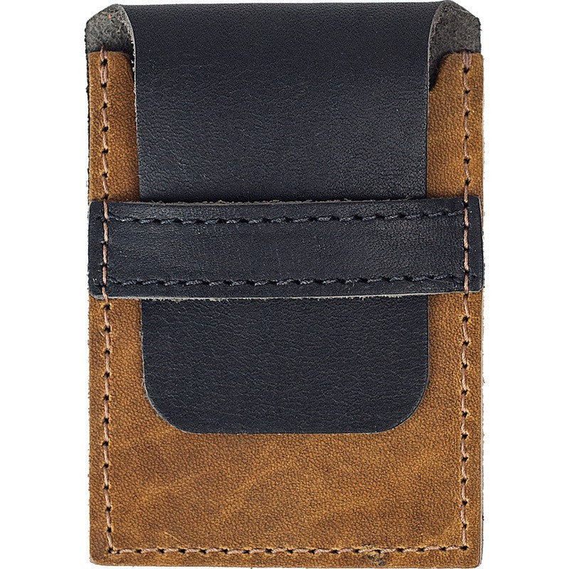 Wheelmen & Co. Card Wallet | Black/Camel WA-011-CARDW-BK/CM