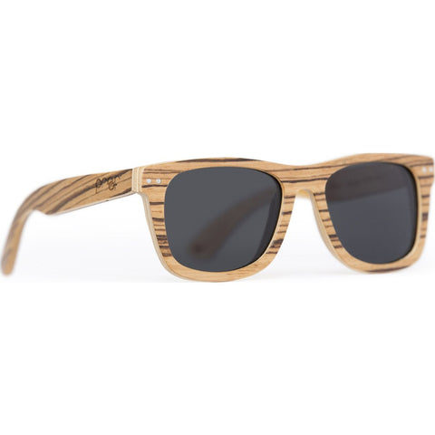 Proof Ontario Wood Sunglasses | Zebra/Polarized sontzebpol