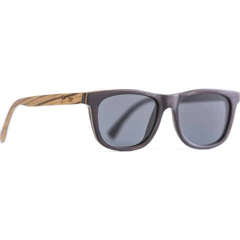 Proof Stanley Wood Sunglasses | Black Maple Zebra/Polarized slyblktzpol