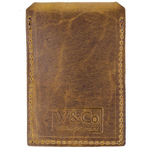 Wheelmen & Co. Card Wallet | Camel/Black Rubber