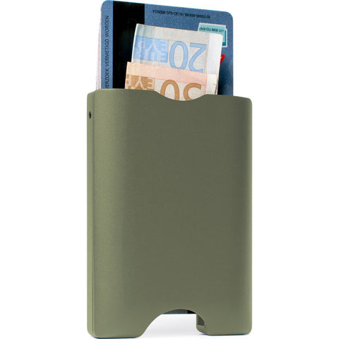 Walter Wallet Aluminum Cardhold Wallet | Olive Green AW004