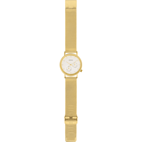 Komono Walther Watch | Gold Mesh KOM-W4023
