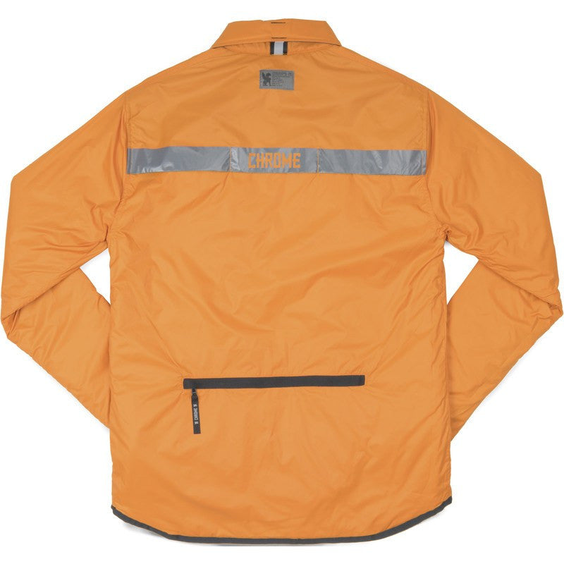 Chrome Reversible Warm Work Shirt | Black/Orange