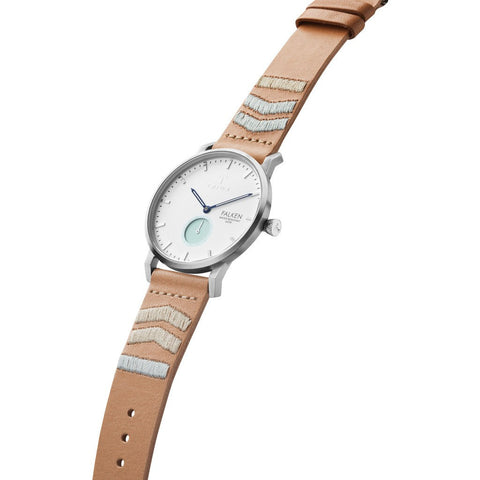 Triwa Wave Falken Watch | Tan Embroidered Classic Strap FAST114-CL070612