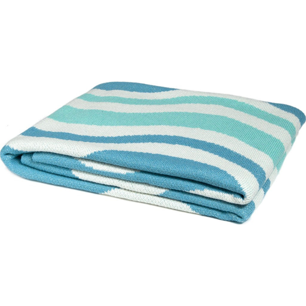 in2green Waves Eco Throw | Aqua/Seafoam BL01WV1