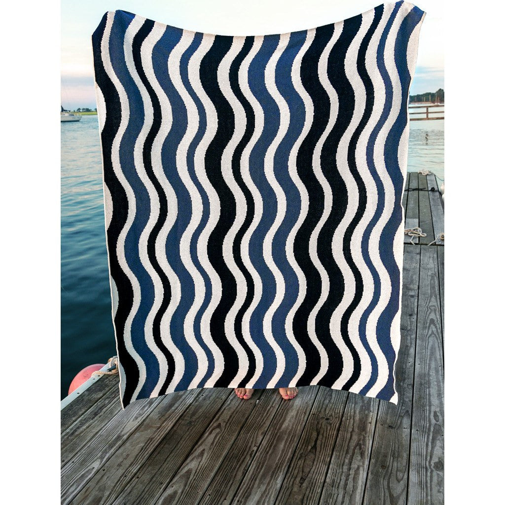 in2green Waves Eco Throw | Slate/Marine BL01WV3