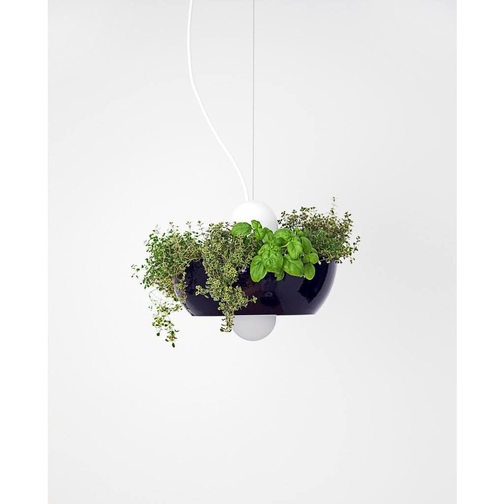 Object Interface Well Light Planter | Black/White/Black WL1-BWB