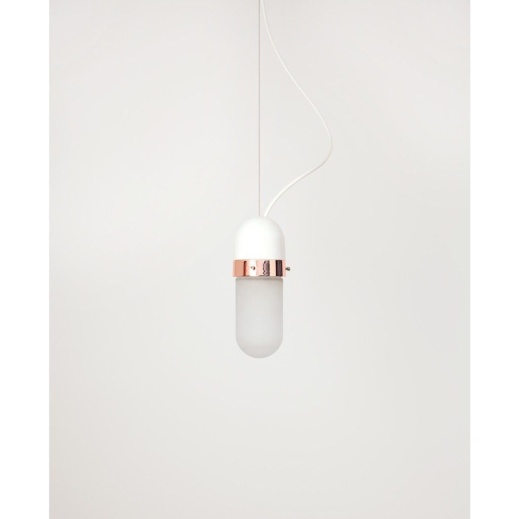 Object Interface Well Light Pill | White/Copper WL1-Wco