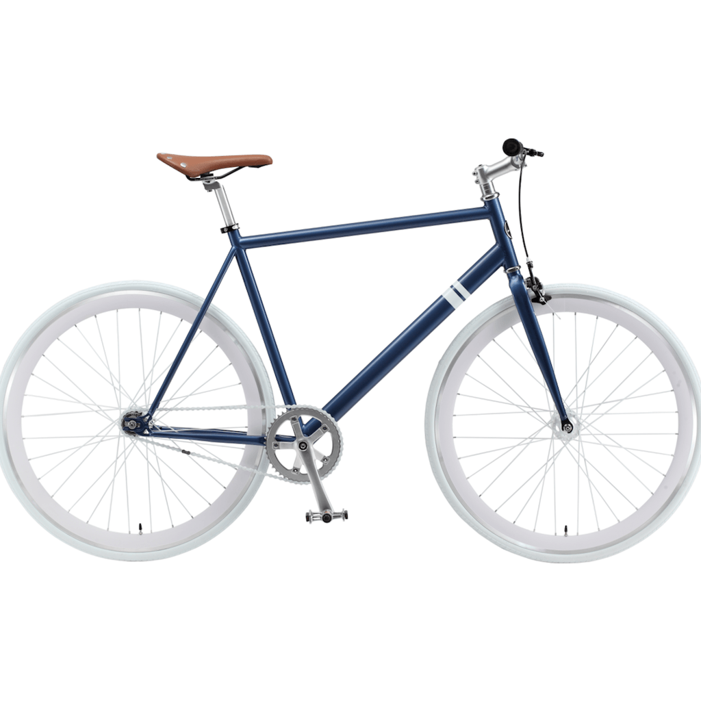 Sole Bicycles Whaler Fixed Single Speed Bike | Navy Blue/White Rims Sole 060-49