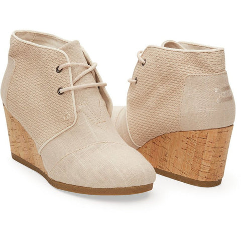 TOMS Desert Wedges | Whisper Burlap Textured