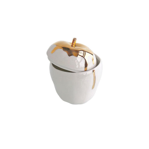 Michiko Shimada Apple Trinket Box | Gold/White