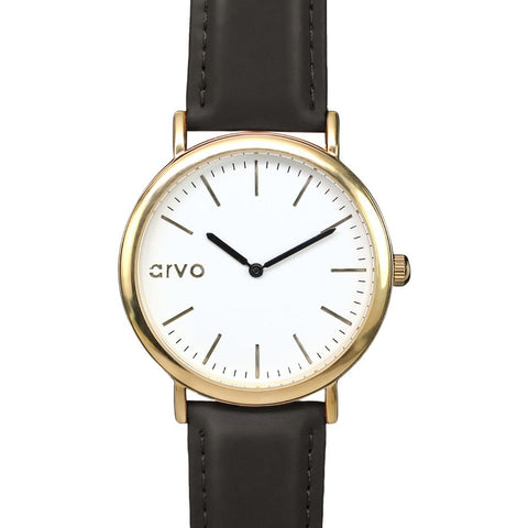 Arvo White Time Sawyer Watch | Gold/Black WTSBK