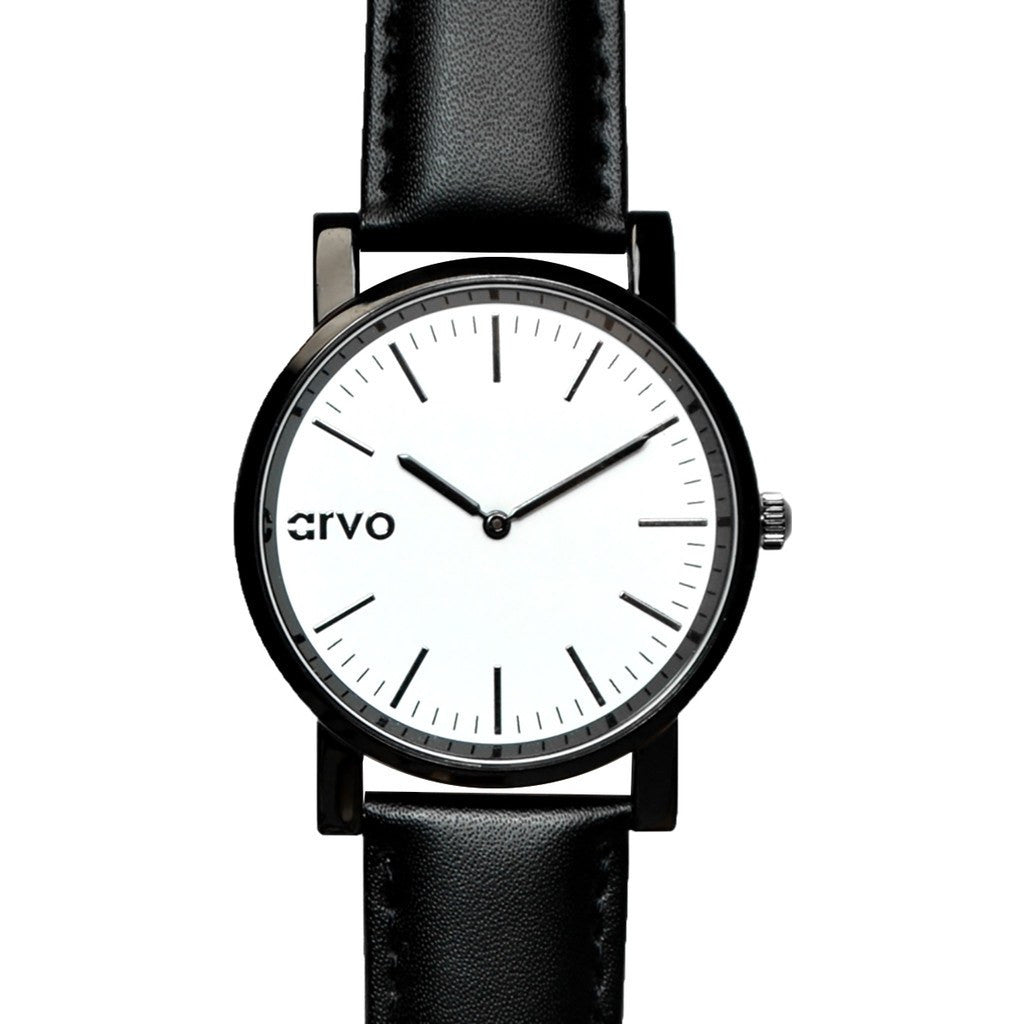 Arvo White Timeus Edison Watch | Black/Black WTEBK