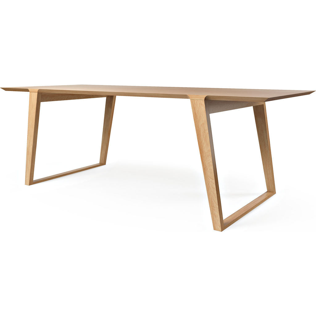 Kalon Isometric Wood Table White Oak Sportique