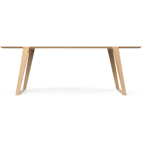 Kalon Isometric Medium Wood Table | White Oak