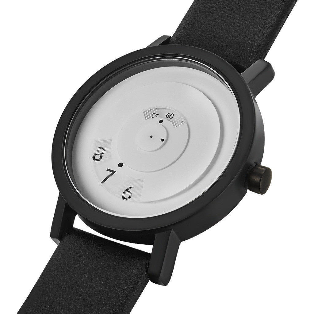 Projects Watches Reveal 40mm White Watch | Black Leather 7203 WL40
