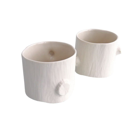 Michiko Shimada Wide Log Tumbler Set of 2 | White