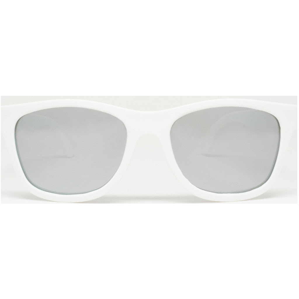 Babiators Aces Navigators Wicked White Kids Sunglasses | Mirrored Ages 7-14