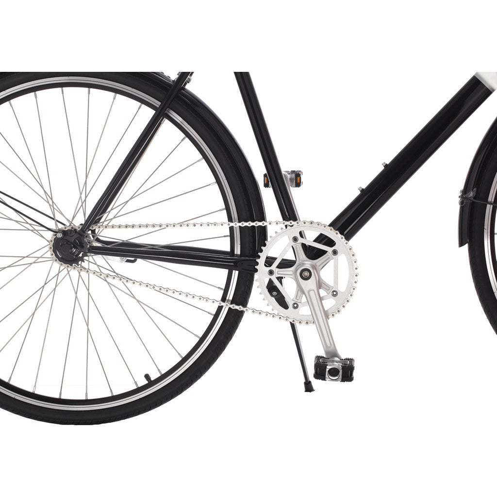 Sole Bicycles Windward City City Cruiser Bike | Gloss Black/Silver Accents  CTB 001-54