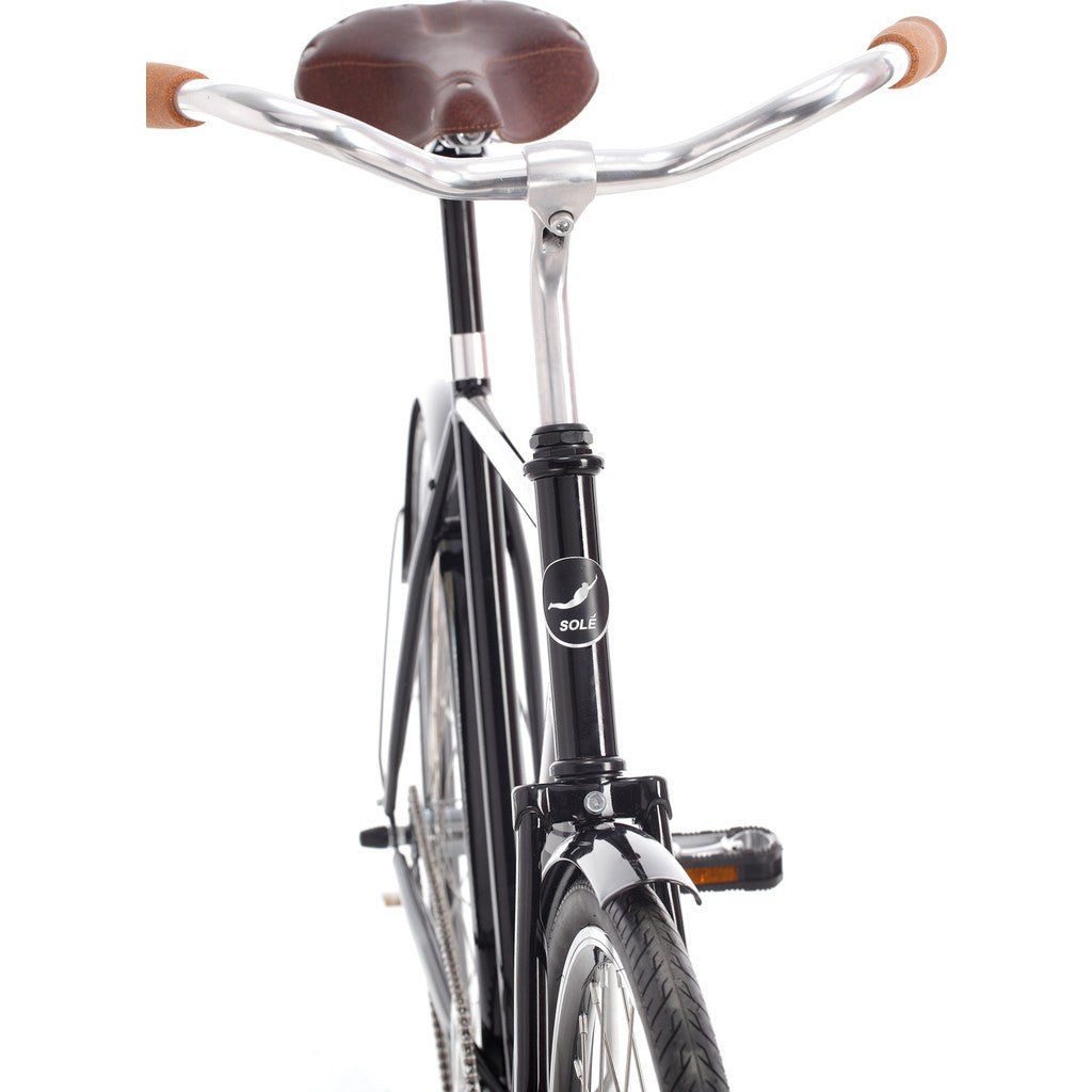 Sole Bicycles Windward City City Cruiser Bike | Gloss Black/Silver Accents  CTB 001-58