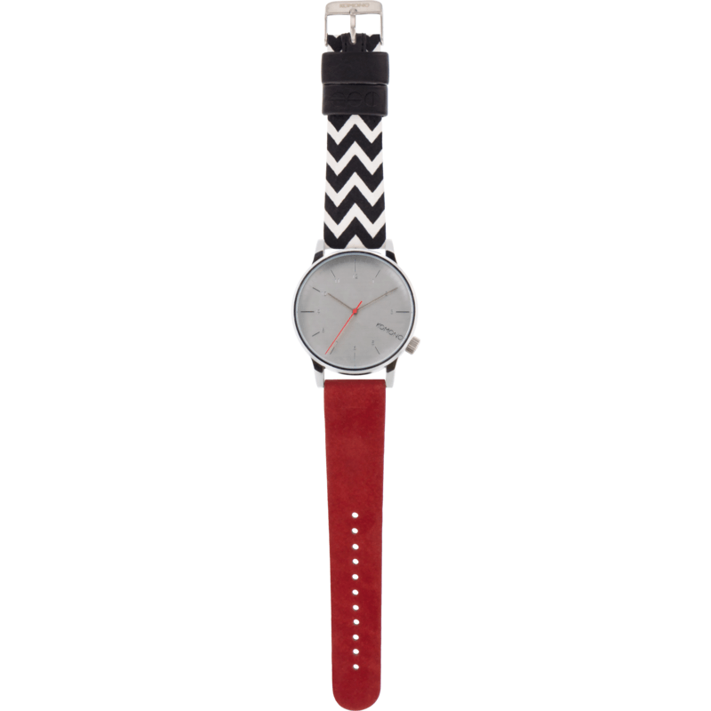 Komono Winston Galore Watch | Zigzag Suede