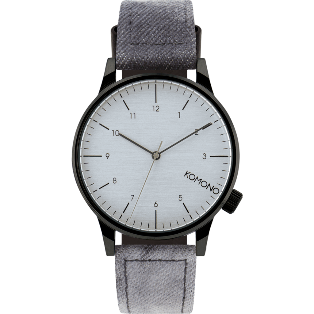 Komono Winston Heritage Watch | Black Denim KOM-W2133Ê