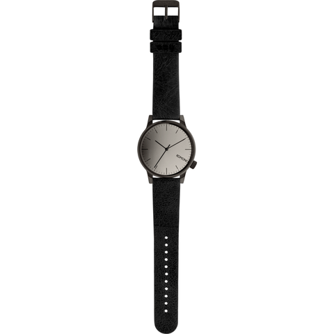 Komono Winston Mirror Watch | Black/Black KOM-W2890