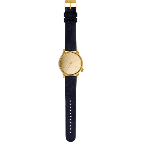 Komono Winston Mirror Watch | Gold/Navy KOM-W2891
