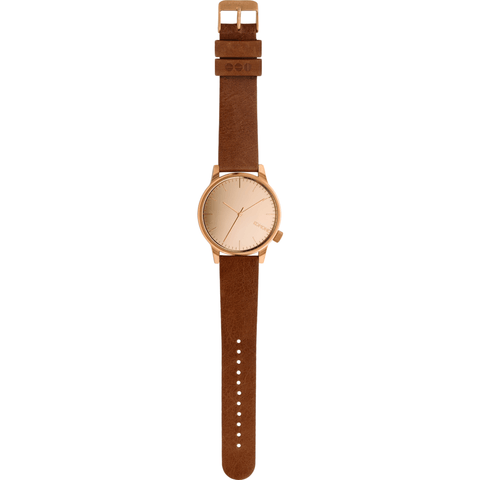 Komono Winston Mirror Watch | Rose/Cognac KOM-W2893