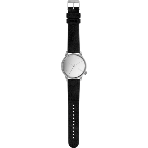 Komono Winston Mirror Watch | Silver/Black KOM-W2892