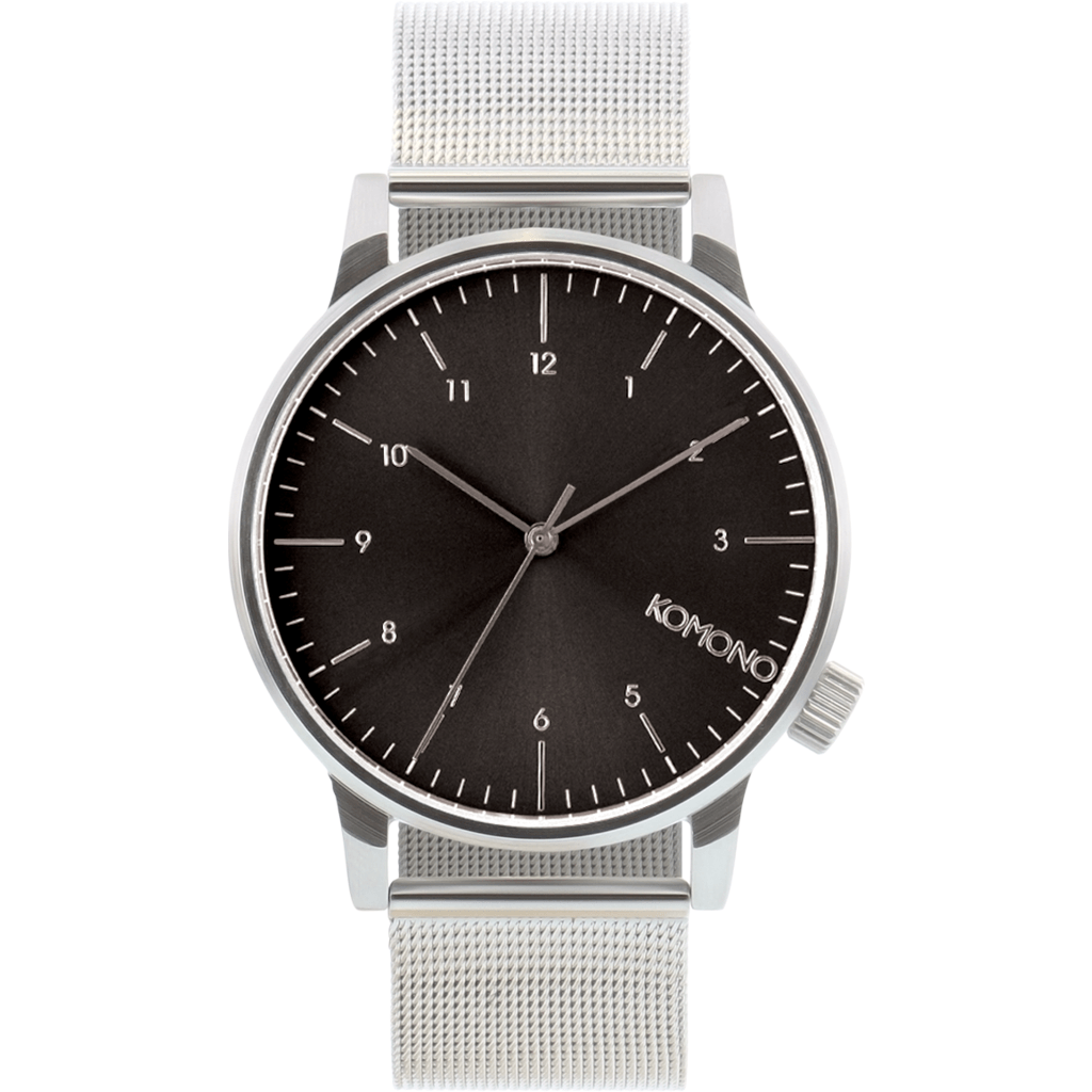 Komono Winston Royale Watch | Silver/Black KOM-W2357