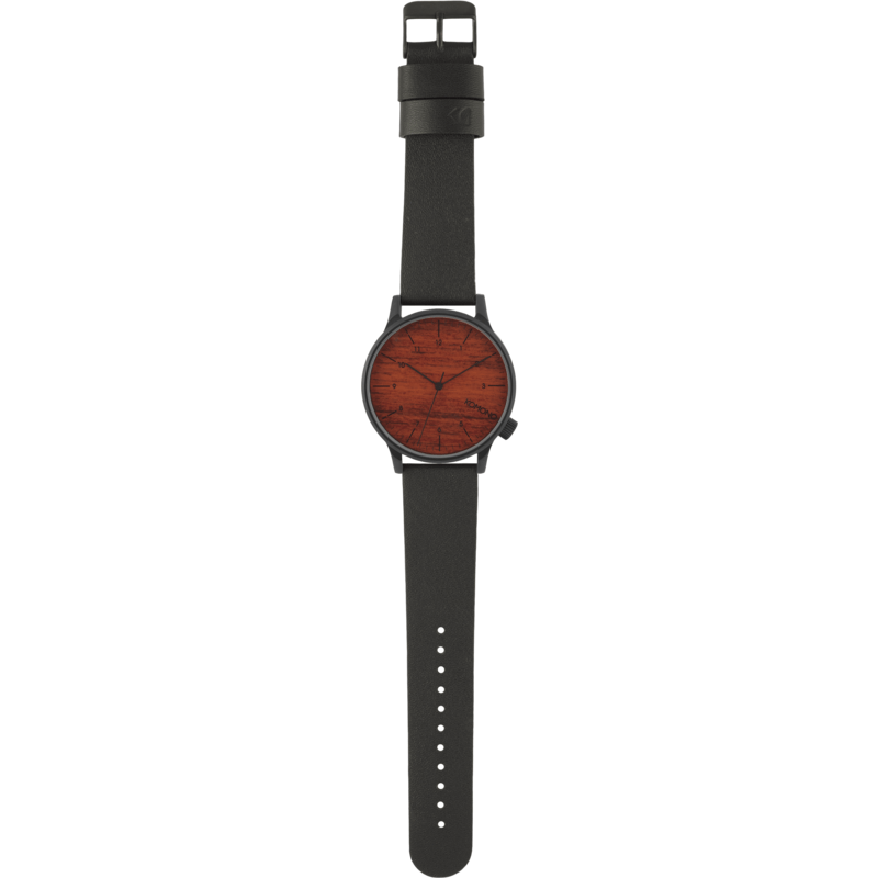 Komono Winston Watch | Black Wood KOM-W2020