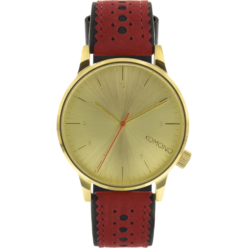 Komono Winston Brogue Watch | Red Jazz KOM-W2016