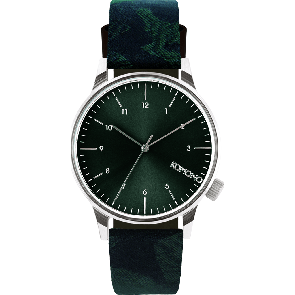 Komono Winston Print Watch | Camo Green