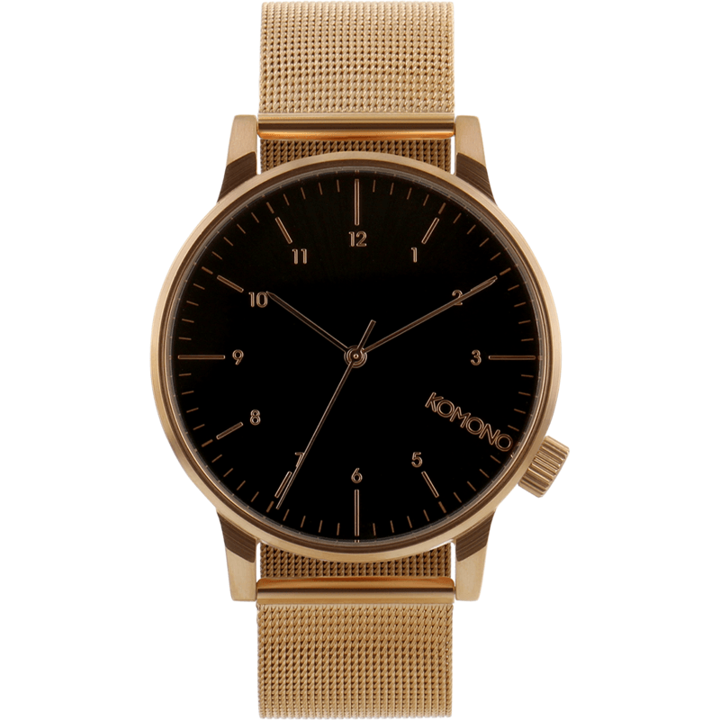 Komono Winston Royale Watch | Rose Gold Black KOM-W2354