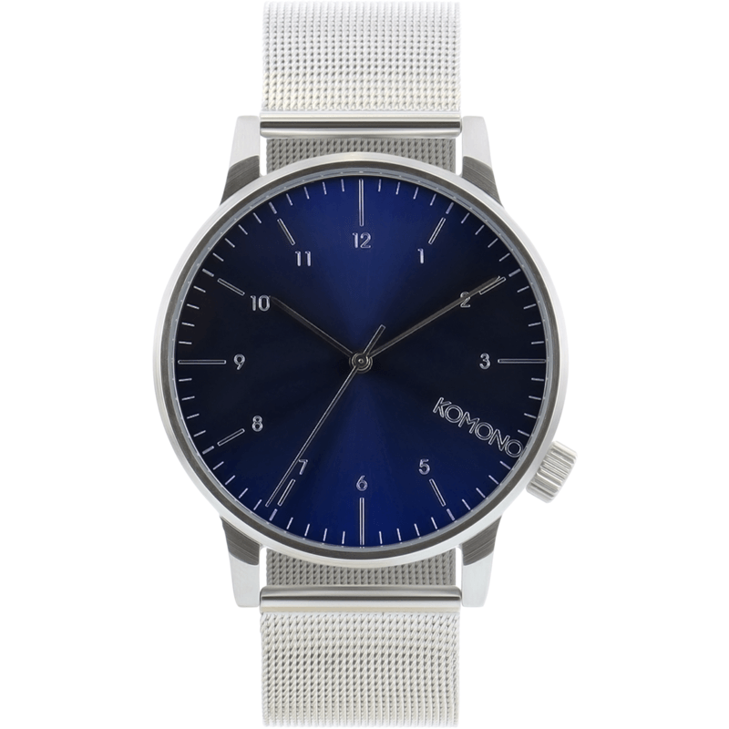 Komono Winston Royale Watch | Silver Blue KOM-W2353