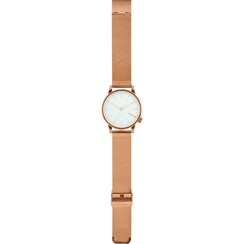 Komono Winston Royale Watch | Rose Gold/White KOM-W2356
