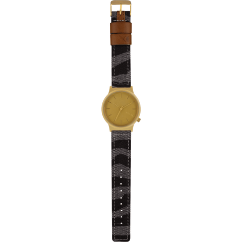 Komono Wizard Print Watch | Denim Zebra KOM-W1817