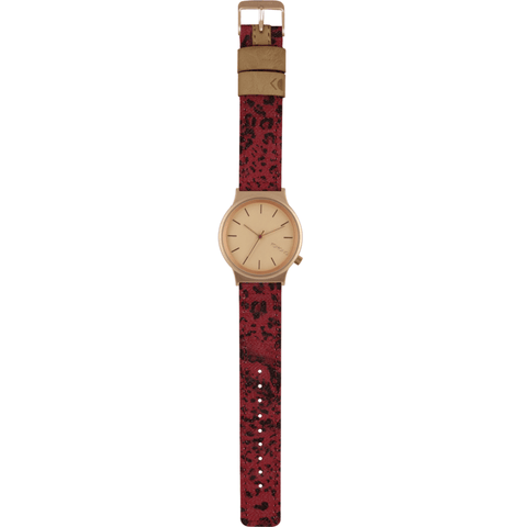 Komono Wizard Print Watch | Red Leopard KOM-W1812