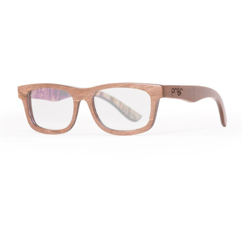 Proof Loom Wood Rx Prescription Glasses | Stained Clear Lens