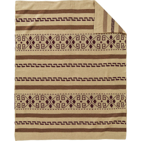 Pendleton Westerley Knit Throw Blanket | Tan XF230-55130
