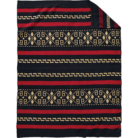 Pendleton Westerley Knit Throw Blanket | Black XF230-55131